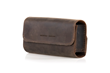 Dynamic Duo Glasses Case — thick, chocolate, full-grain leather