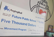 Future Public School received a $5,000 donation from RagingBull.com Foundation to purchase some of the equipment necessary to get their new Movement physical education program started.