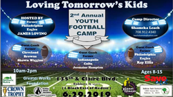 sponsorships by Neoteric Nutra, Planet Fitness, Robbins Alumni Association, Robbins Park District, Save A Lot, Crown Trophy, Greater Works Foundation.  Event Hosted by former NFL Philadelphia Eagles player James Loving.