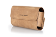Dynamic Duo Glasses Case— thick Grizzly leather with Brown Ultrasuede(R) liner