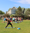 Yoga in the Park will be offered every weekday morning from July 5 to August 30 as part of L.L.Bean's annual Summer in the Park events. Yoga sessions are free and all experience levels are welcome.