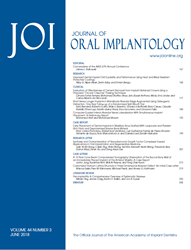 Journal of Oral Implantology Volume 43 Issue 3