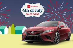 Salinas Toyota offers Fourth of July Sale