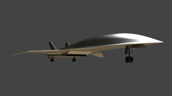 Rendering of the Mach 5 business-class passenger jet being designed in Onshape by Hermeus.