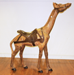 Rare early 20th century carved carousel giraffe,