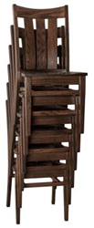 Weaver Furniture Sales now Offers Amish-built Stackable Lamont Dining Chair Eliminating Storage Issues