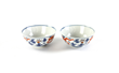 Pair of 18th century Chinese enamel-on-porcelain bowls