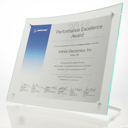 Infinite Electronics, Inc. Earns 2018 Boeing Performance Excellence Award