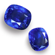 Two sapphires. Sourced by Jeffrey Bilgore. 17 ct. (top) and 11 ct. (bottom)