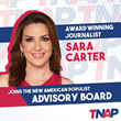 The New American Populist Announces Sara Carter Joins Advisory Board