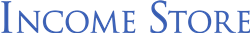 Blue Income Store Logo on white background