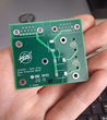 Dakotah Rusley, a graduate of SD Mines who now works at NASA, created this custom circuit board.  Credit NASA.