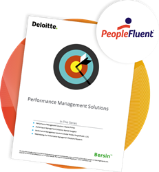 A screenshot of the 2019 Bersin Performance Management Solutions: Vendor Profiles report which found that PeopleFluent is equipped with all the expected standard and differentiated capabilities.