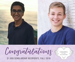 Image result for Chapel of the Flowers Announces Fall 2019 National Scholarship Winners