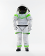 ILC Dover's Z-1 spacesuit prototype replaced the Mark III hard structures with fabric while maintaining high mobility for planetary exploration  (Photo/NASA)