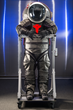 ILC Dover's Z-2 spacesuit incorporated advanced carbon composite structures and a new elliptical helmet for improved performance over Mark III.  (Photo/NASA)
