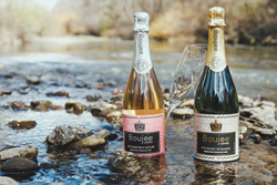 Bottles of Boujee sparkling in the Russian River