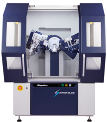 Rigaku SmartLab multipurpose X-ray diffractometer for powder diffraction, thin film metrology, SAXS, in-plane scattering, operando measurements