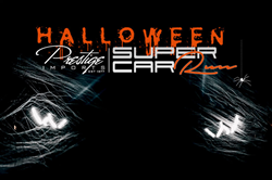 Prestige Imports Halloween Super Car Run Banner with Cobwebs and Headlights