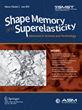 Shape Memory and Superelasticity Journal Accepted For Indexing by Scopus