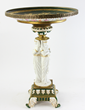 19th century French Sévres center table with Egyptian  pedestal