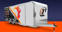 Rendering of a 24-foot race trailer from inTech.