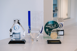 Donaldson Plastic Surgery and Aesthetic Solutions displaying awards from Inc. 5000 and the Fast 50