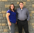 New Midnight Sun Home Care General Manager Becky Huntley and Kevin Turkington, CEO