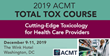The American College of Medical Toxicology Offers 'Total Tox Course' Cutting-Edge Toxicology for Healthcare Providers