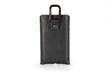 Executive Leather iPhone Sleeve — in black full-grain bison leather; shown with optional carabiner attachment