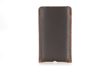 "Executive Leather iPhone Sleeve — full-grain brown ""chocolate"" leather"