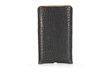 Executive Leather iPhone Sleeve — full-grain pebbled black bison leather