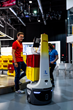 Locus Robotics' bots on display at the new DHL Americas Innovation Center