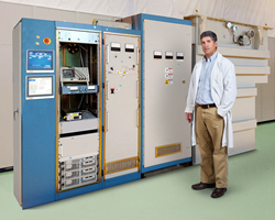 The DTI ESS Klystron Production Test Stand permits the testing of klystrons at full ESS specifications.