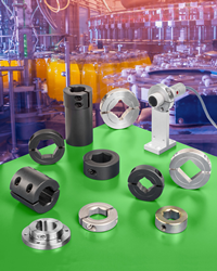 Shaft Collars, Couplings & Components are available off-the-shelf to fit a variety of shaft configurations and include adjustable collars, mounting collars, and various types of rigid couplings.