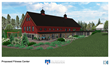 A rendering of the exterior of the Health and Wellness Center, a new addition to the Travis Mills Retreat