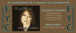 Bridget Brady is in GRAMMY® Nomination consideration for her self-written debut album, Choose to Forgive.