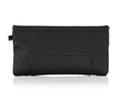 Switch Lite Slip Case — in black ballistic nylon with full-grain black leather