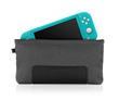 Switch Lite Slip Case — in slate grey with full-grain black leather