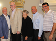 From left: Jack Geoghegan,  Jim O'Connor, Mary K. Spengler, MS, William F. Flooks Jr., Michael Vitale