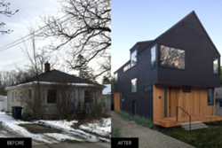 Tiny bungalow transforms into modern 3-story home in Ann Arbor, Michigan