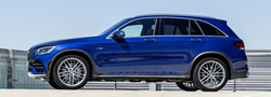 2020 MB GLC SUV exterior drivers side profile