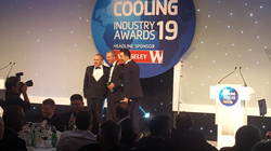 David Blackhurst of Star Refrigeration receives Fred Jamieson Award at the RAC Cooling Awards 2019