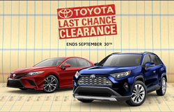last chance clearance with 2019 Toyota Camry and 2019 Toyota rav4