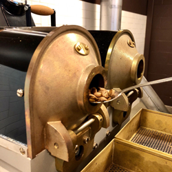 picture of coffee roaster at Crimson Cup Innovation Lab in Columbus Ohio