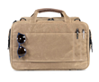 Air Duffel— rear wheeled-suitcase passthrough, slots for quickly stashing pens & glasses