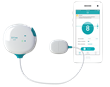 DFree wearable device connects via Bluetooth® to a smartphone or tablet and sends notifications via the DFree app -- informing the individual or caregiver, when it's time to go to the bathroom.