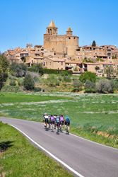 Cyclists in Spain's Catalonia Region