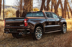 2020 Chevrolet Silverado in the woods