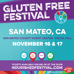 San Mateo Gluten-Free Nourished Festival at San Mateo County Event Center November 16-17 2019